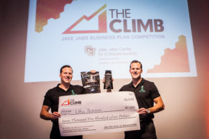 Dave and Lars Baugh of Lithic Nutrition become the first community startup winners at THE CLIMB 2016. Photo by McBoat Photography